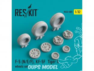 ResKit kit d'amelioration Avion RS32-0005 Ensemble de roues F-5 (N/E/F), KF-5F Tiger II 1/48