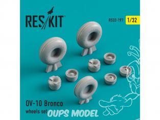 ResKit kit d'amelioration Avion RS32-0197 Ensemble de roues OV-10 Bronco 1/48