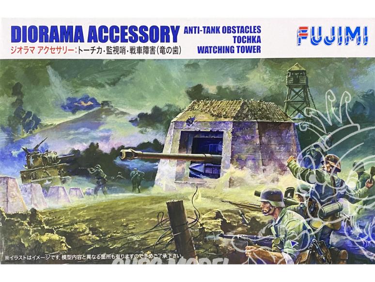 Fujimi maquette militaire 761077 Bunker 1/76