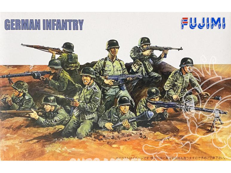 Fujimi maquette militaire 761060 Infanterie Allemande 1/76