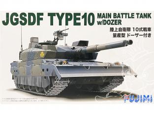 Fujimi maquette militaire 722443 Char Type 10 JGSDF avc lame Dozer 1/72