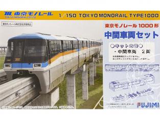 Fujimi maquette train 910017 Tokyo Monorail Type1000 1/150