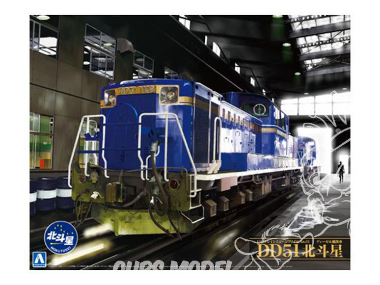 "Aoshima maquette militaire 10006 Locomotive diesel DD51 Limited Express ""Hokutosei"" 1/45"