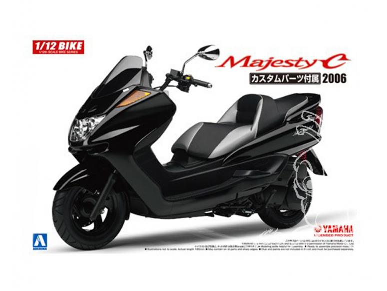 Aoshima maquette moto 54413 Scooter Yamaha Majesty C pièce Custom 2006 1/12