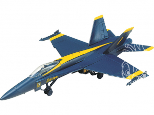 Revell US maquette avion 1185 F-18 'Blue Angels' easy snap 1/72