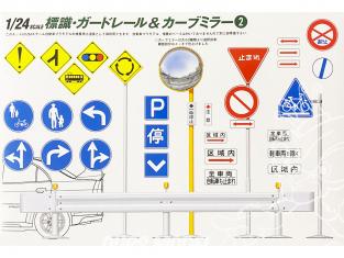 fujimi maquette voiture 11074 Panneaux routiers Japonais 1/24