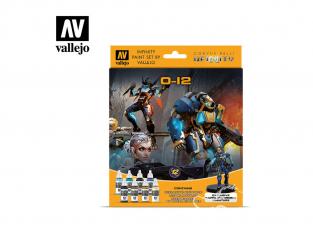 Vallejo Set Infinity 70239 O-12 8 pots de peintures 17ml