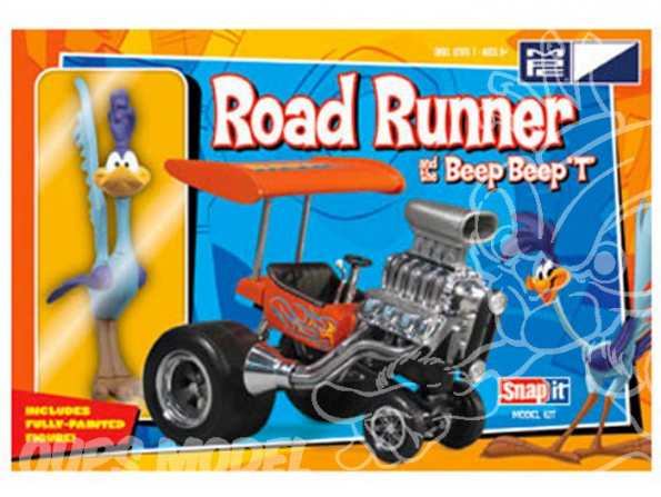 MPC maquette voiture 0718 Road Runner et Beep Beep T Snap-It 1/25