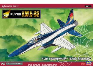 "HASEGAWA maquette avion 64771 ""Area 88"" F-20 TigerShark ""Shin Kazama"" 1/48"