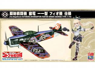 HASEGAWA MAQUETTE 52233 Escadron Kotobuki dans le désert décollage des filles dans le ciel Local Fighter Shiden 11 Type Fio 1/48