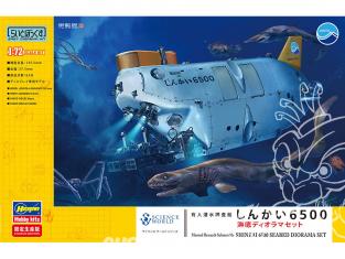 HASEGAWA maquette Sous-marin 52236 Navire de recherche submersible habité Shinkai 6500 sous-marin diorama set 1/72