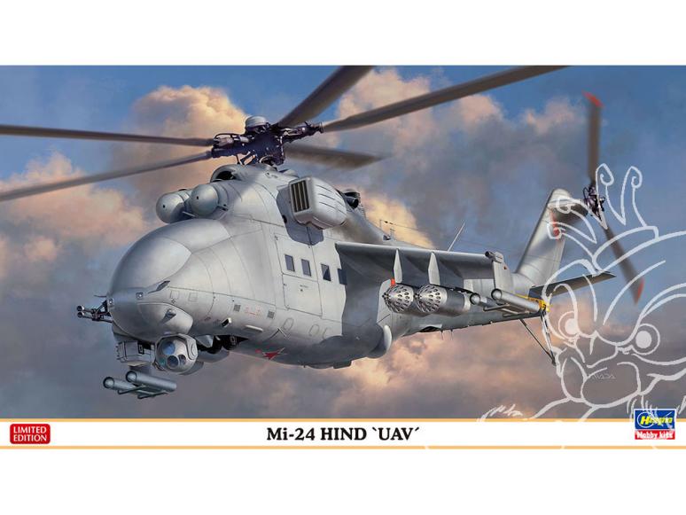 "Hasegawa maquette Helicoptére 02317 Mi-24 Hind ""UAV"" 1/72"