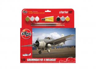 Airfix maquette Helicoptére A55214 Medium Starter Set - Grumman F4F-4 Wildcat 1/72