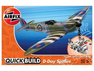 Airfix maquette avion J6045 QUICKBUILD (idem que lego) D-Day Spitfire