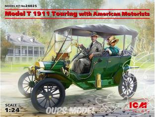 Icm maquette voiture 24025 Modèle T 1911 en tournée avec des automobilistes américains 1/24