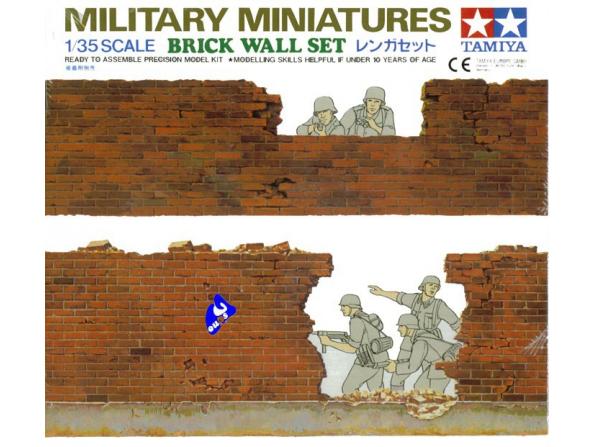 tamiya maquette militaire 35028 set de briques 1/35