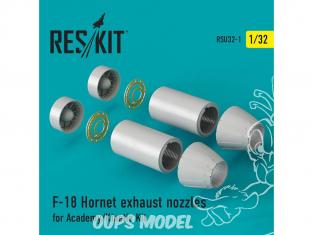 ResKit kit d'amelioration Avion RSU32-0001 Tuyère pour F-18 Hornet Academy ET Kinetic 1/32