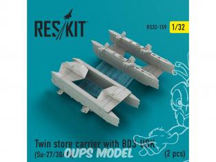 ResKit kit d'amelioration Avion RS32-0159 Magasin de transport double pour BD3-USK (2 pcs) SU-27 30 et 33 1/32