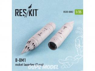 ResKit Kit RS35-0002 Lance-roquettes B-8M1 2 pcs MT-LB, UAZ, Pickup w/ZPU-2, BMP-2, Toyota Hilux, BTR-70, URAL 1/35