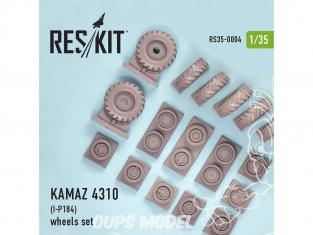 ResKit Kit RS35-0004 Ensemble de roues pour KAMAZ 4310 (I-P184) 1/35
