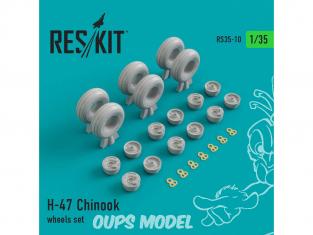 ResKit Kit RS35-0010 Ensemble de roues pour H-47 Chinook 1/35