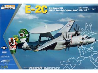 Kinetic maquette avion K48066 E-2C Hawkeye 2000 VAW-115 Liberty Bells Sayonara Atsugi 1/48