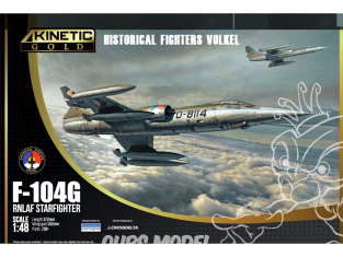 Kinetic maquette avion K48090 F-104G RNLAF Starfighter edition Gold 1/48