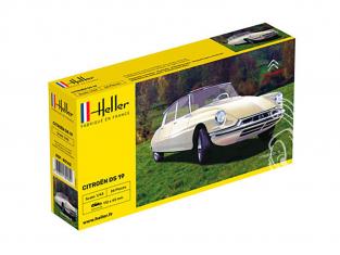 Heller maquette voiture 80162 Citroen DS19 1/43