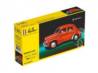 HELLER maquette voiture 80174 Renault 4CV 1/43