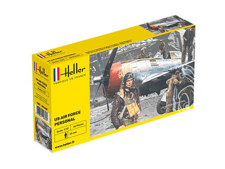 Heller maquette avion 49648 Personnel US Air Force 1/72