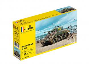 Heller maquette militaire vehicule 79892 M4 SHERMAN D DAY 1/72