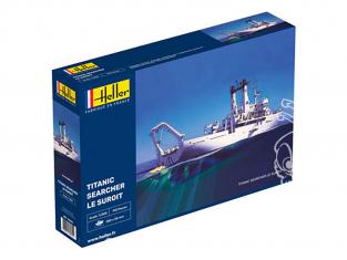 Heller maquette bateau 80615 Le Suroît navire de recherche du Titanic 1/200