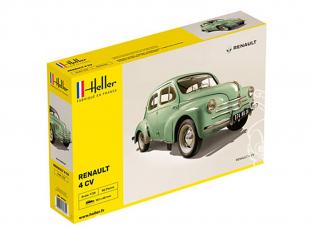 Heller maquette voiture 80762 Renault 4cv 1/24