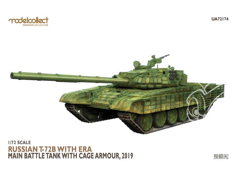 Modelcollect maquette militaire 72174 T-72B russe avec char de combat principal ERA avec armure cage 2019 1/72