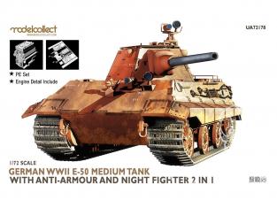 Modelcollect maquette militaire 72178 Char moyen E-50 de la seconde guerre mondiale anti-blindé et chasseur de nuit 2 en 1 1/72