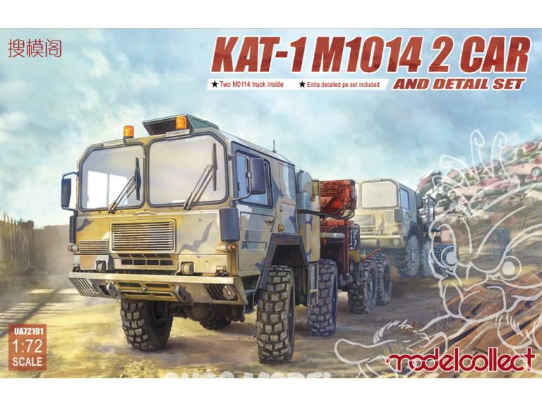 Modelcollect maquette militaire 72191 KAT-1 M1014 2 avec grue inclus detail set 1/72