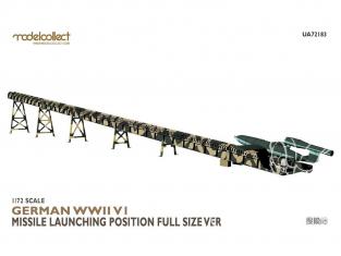 Modelcollect maquette militaire 72183 Rampe de lancement complète d'un V1 Allemand WWII 1/72