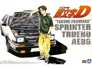 "Aoshima maquette voiture 03206 Toyota AE86 Sprinter Tueno ""Takumi Fujiwara"" Initial D 1/24"