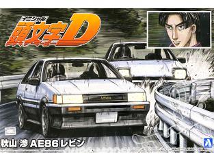 Aoshima maquette voiture 57360 Toyota AE86 Levin Wataru Akiyama Initial D 1/24