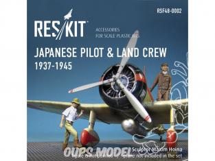 ResKit kit Figurine RSF48-0002 Pilote japonais et équipage terrestre 1937-1945 WWII 1/48