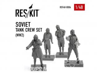 ResKit kit Figurine RSF48-0004 Ensemble d'équipage de char soviétique WW2 1/48
