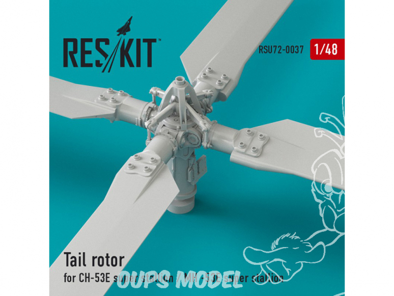 ResKit kit RSU48-0037 Rotor de queue pour СH-53E Super Stallion et MH-53E Sea dragon 1/48