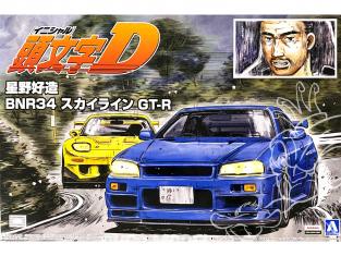 Aoshima maquette voiture 57339 Nissan Skyline GT-R BNR34 Initial D Hoshino Kozo 1/24