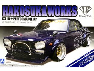 Aoshima maquette voiture 11492 LB Works Hakosuka Works Nissan Skyline Hakosuka 2Dr - Liberty Walk 1/24