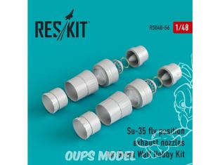 ResKit kit d'amelioration Avion RSU48-0056 Tuyère pour Su-35 position de vol kit Great Wall Hobby 1/48