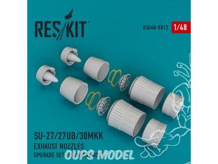 ResKit kit d'amelioration Avion RSU48-0012 Tuyère pour Su-27/27UB/30MKK kit Hobby Boss 1/48