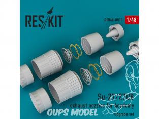 ResKit kit d'amelioration Avion RSU48-0013 Tuyère pour Su-27/27UB kit Academy 1/48