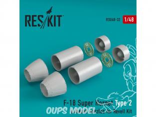 ResKit kit d'amelioration Avion RSU48-0032 Tuyère pour F-18 Super Hornet Type 2 kit Revell 1/48