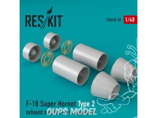 ResKit kit d'amelioration Avion RSU48-0030 Tuyère pour F-18 Super Hornet Type 2 kit Hasegawa 1/48