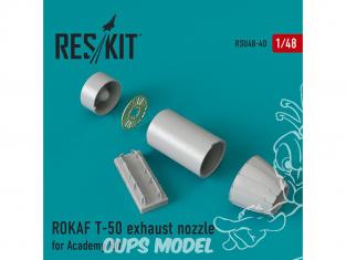 ResKit kit d'amelioration Avion RSU48-0040 Tuyère pour ROKAF T-50 kit Academy 1/48